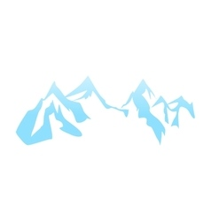 cliffs and mountain tops vector image