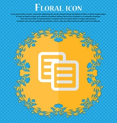 Copy floral flat design on a blue abstract vector
