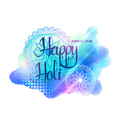 Creative watercolorful holi festival background vector