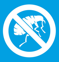 Etching insect icon white vector