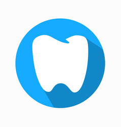 flat tooth icon modern design vector image