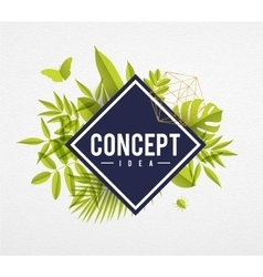 Frame floral concept lime vector image vector image