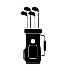 Golf bag full of clubs sport equipment vector