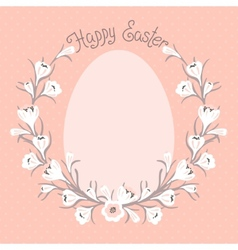 Happy easter card with place for your text vector