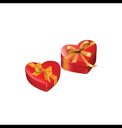heart gift presents vector image vector image