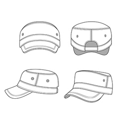 Jeep cap band outlined template vector image vector image