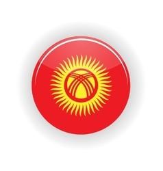 Kyrgyzstan icon circle vector image
