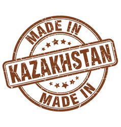 Made in kazakhstan brown grunge round stamp vector