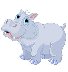 Mischievous hippo vector image