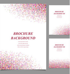Modern geometric abstract brochure template vector