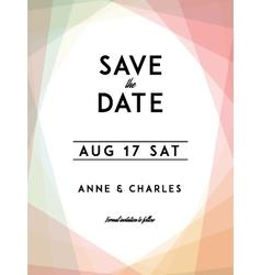 Modern wedding save the date vector