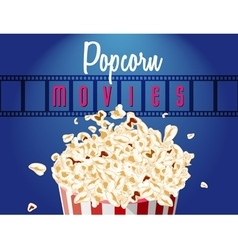 movie film reel and popcorn vector image