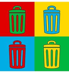 Pop art garbage vector