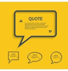 Quote line speech bubble set vector image vector image