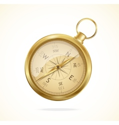 Retro style metal compass vector