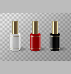 Set of realistic nail polish package vector
