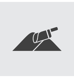 Shovel and sand icon vector image vector image
