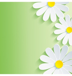Spring abstract background 3d flower vector image