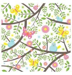 Spring Season Seamless Pattern vector image