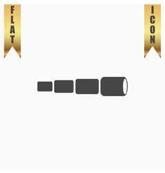 Spyglass flat icon vector image