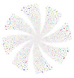 ufo fireworks swirl rotation vector image vector image