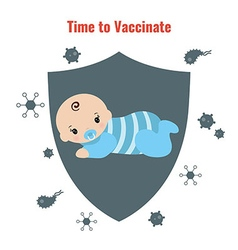 Vaccination concept poster vector