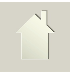 white paper house icon vector image