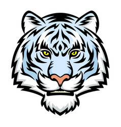 white tiger head logo vector image vector image