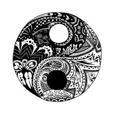 ying yang vector image vector image