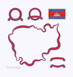 Colors of cambodia vector