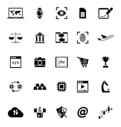 Information technology icons on white background vector