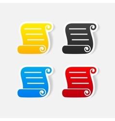 Realistic design element blank paper vector
