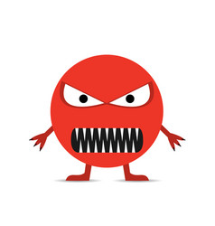 red angry smiley face vector image