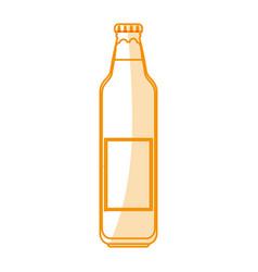orange silhouette shading cartoon bottle glass of vector image
