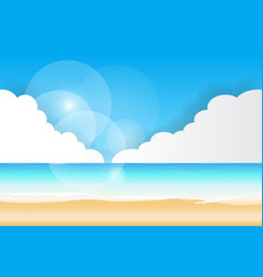 Sea view beach background vector