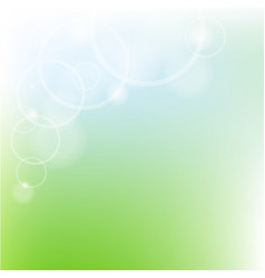 Green pastel poster vector