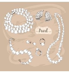 Pearl collection vector