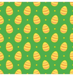 Tile pattern with easter eggs and polka dots vector