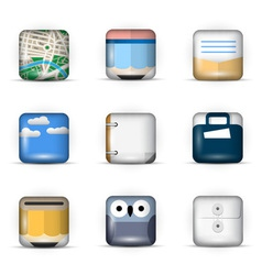 3D App Icons vector image vector image