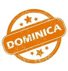 Dominica grunge icon vector