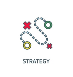 Abstract sign the dotted line strategy goal vector