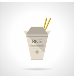 Rice box flat icon vector