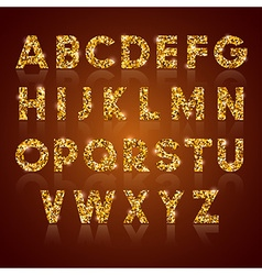 Alphabet golden vector