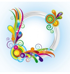 Multicolor ring frame vector