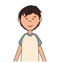 Teenager boy cartoon icon vector