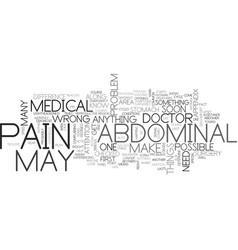 Abdominal pain text word cloud concept vector