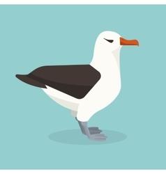 Albatross bird is sitting alone vector