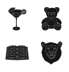 Alcohol training and or web icon in black style vector
