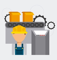 Assembly line vector