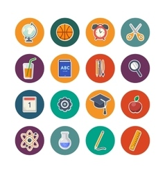 Back to school icons set vector image